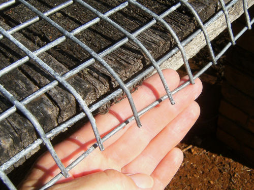 closeup of wire mesh