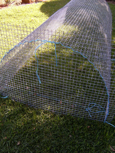 wire mesh tunnel and end panel